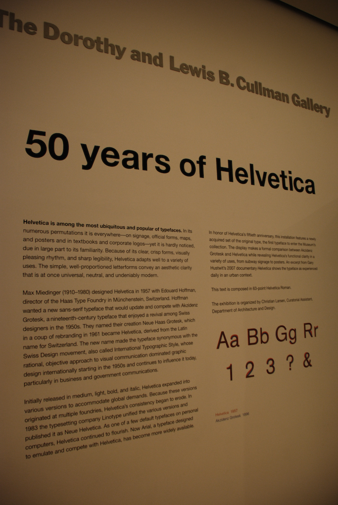 50 Years of Helvetica