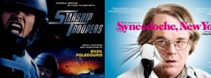 Posters of Starship Troopers and Synecdoche, New York films