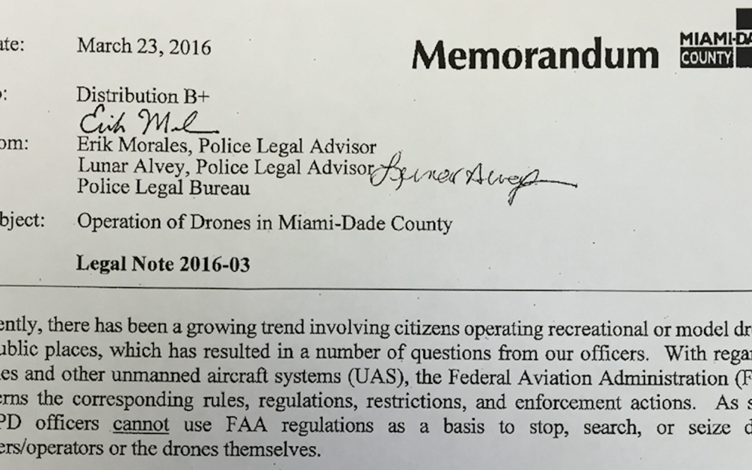 Police Can't Stop You From Flying Your Drone in Miami-Dade