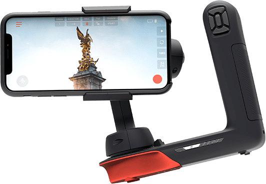 Movi Smartphone gimbal with iPhone