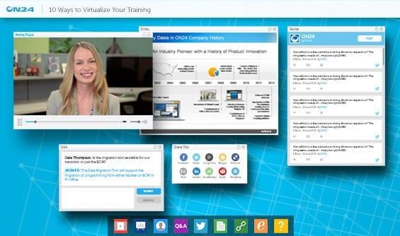 ON24 Webinar Screen